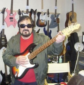 Don Crown in guitar shop
